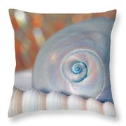Soft Colored Shells Throw Pillow