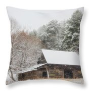 Soft Colors In The Snow Throw Pillow