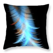 Soft Cosmic Feathers Throw Pillow