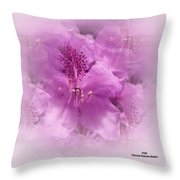 Soft Edged Floral Throw Pillow