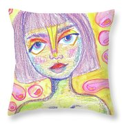 Soft Eyes Throw Pillow