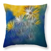 Soft-flowers Throw Pillow