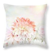 Soft Focus Floral Background Throw Pillow