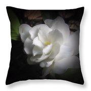 Soft Focus Gardenia Throw Pillow