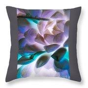 Soft Glow Succulents Throw Pillow