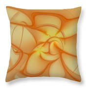 Soft Golden Flow Throw Pillow