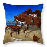 Soft Grand Piano Man Throw Pillow by Mike McGlothlen