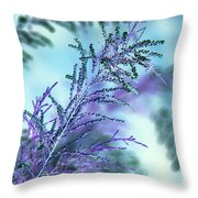 Soft Grasses Throw Pillow