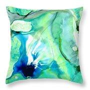 Soft Green Art - Gentle Guidance - Sharon Cummings Throw Pillow