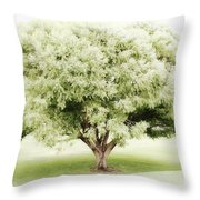 Soft Green Tree Throw Pillow
