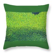 Soft Green Wet Trees Throw Pillow