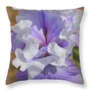 Soft Iris Throw Pillow