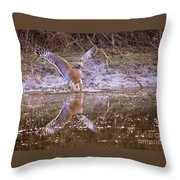 Soft Landing On The Pond Throw Pillow