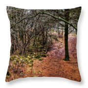 Soft Light In The Woods Throw Pillow