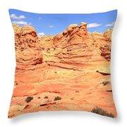 Soft Light On Vermilion Cliffs Throw Pillow