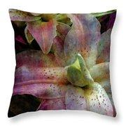 Soft Lilies 3637 Idp_2 Throw Pillow