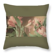 Soft Lilies Throw Pillow