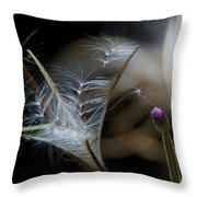 Soft Little Flowers Throw Pillow