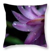 Soft Macro Of Purple Flower Throw Pillow