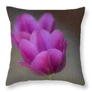 Soft Pastel Purple Tulips  Throw Pillow