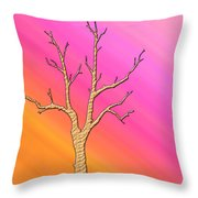 Soft Pastel Tree Abstract Throw Pillow