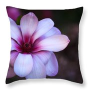 Soft Pink Magnolia Throw Pillow