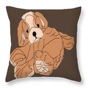 Soft Puppy Throw Pillow