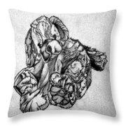 Soft Puppy Sketch Throw Pillow