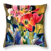 Soft Quilted Tulips Throw Pillow