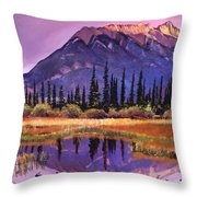Soft Shades Of Reflections Throw Pillow