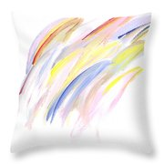 Soft Strokes Throw Pillow