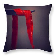 Soft Touch Of Ribbon Throw Pillow