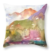 Soft Tree Landscape Throw Pillow
