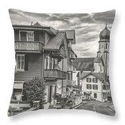 Soft Village Image Throw Pillow