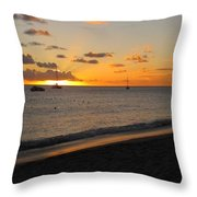 Soft Warm Quiet Sunset Throw Pillow