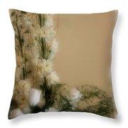 Soft Whites Throw Pillow