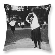 Softball Game Throw Pillow