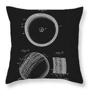 Softball Patent Throw Pillow