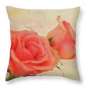 Softly Peach Throw Pillow