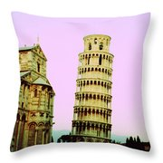 Softly Pisa Throw Pillow