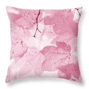 Softness Of Pink Leaves Throw Pillow