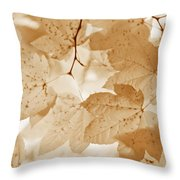 Softness Of Rusty Brown Leaves Throw Pillow