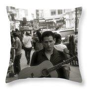 Soho Album Cover Throw Pillow