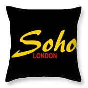 Soho-london Throw Pillow