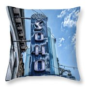 Soho Lounge Austin Throw Pillow