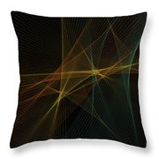 Soil Computer Graphic Line Pattern Throw Pillow