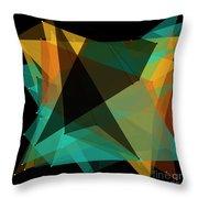 Soil Polygon Pattern Throw Pillow