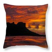 Sokeh's Rock Sunset Throw Pillow