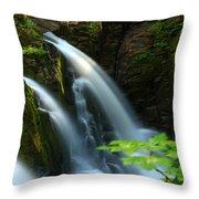 Sol Duc Falls 1 Throw Pillow
