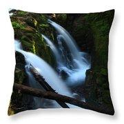 Sol Duc Falls 3 Throw Pillow